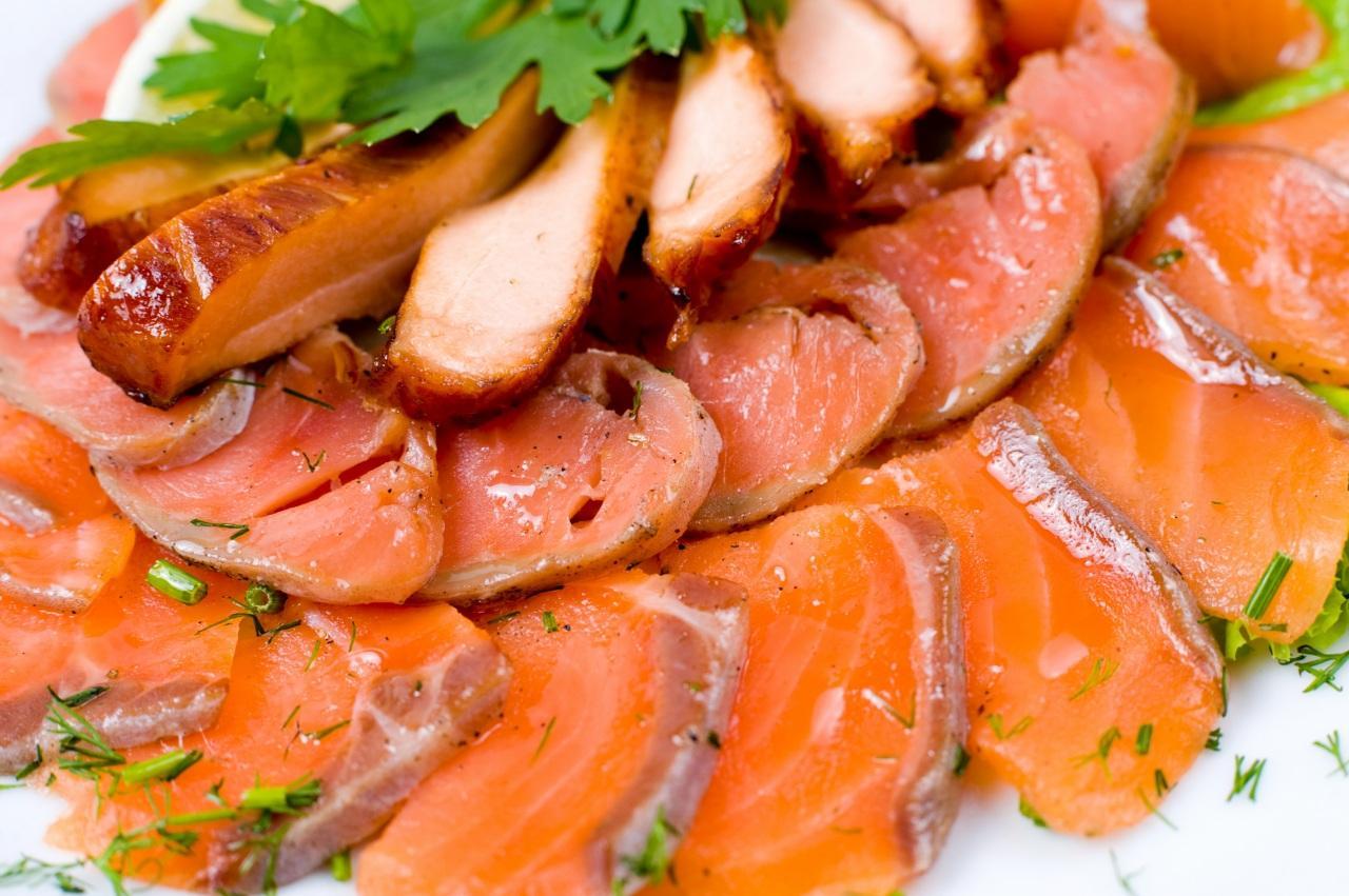 10 блюд с копченой красной рыбой